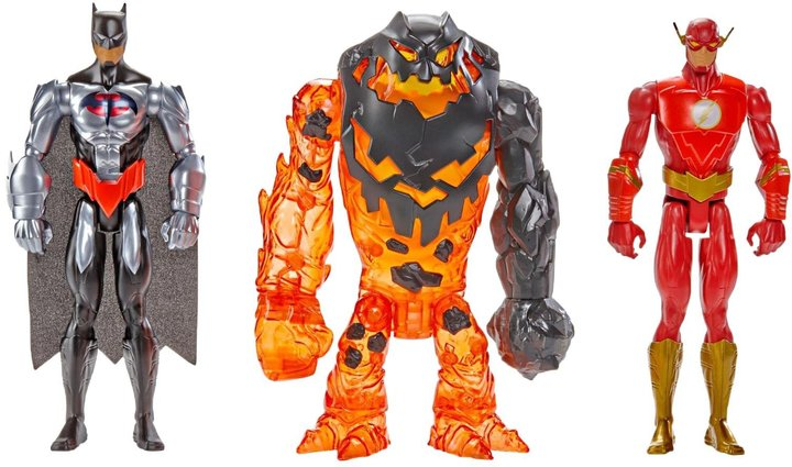 Batman Unlimited Molten Mayhem and The Flash Vs. Clayface Figure, 3-Pack