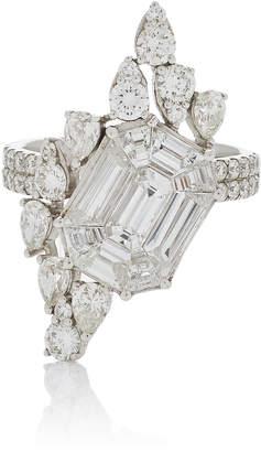 As 29 AS29 Illusion Diamond & 18K White Gold Ring