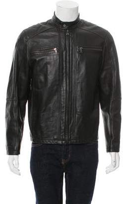 Andrew Marc Leather Cafe Racer Jacket