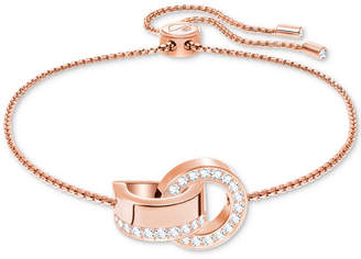 Swarovski Pave Interlocking Circles Slider Bracelet