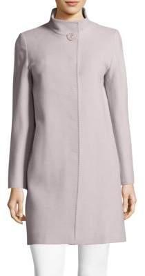 Cinzia Rocca Solid Wool-Blend Coat