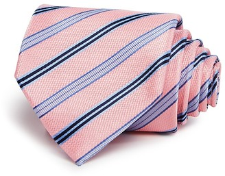 The Men's Store at Bloomingdale's Medium Track Stripe Classic Tie - 100% Exclusive $59 thestylecure.com