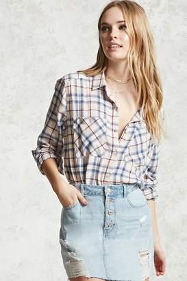 Forever 21 Plaid Button-Down Shirt