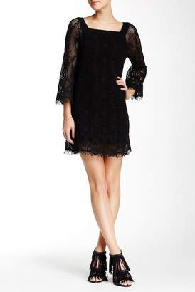 Gypsy 05 Gypsy05 3/4 Length Sleeve Crochet Knit Dress