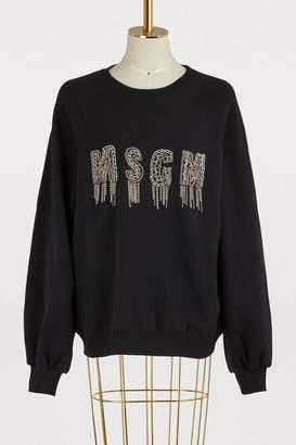 MSGM Embroidered chain sweatshirt