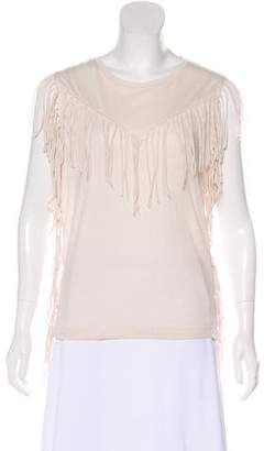IRO Sleeveless Fringe-Trimmed Top