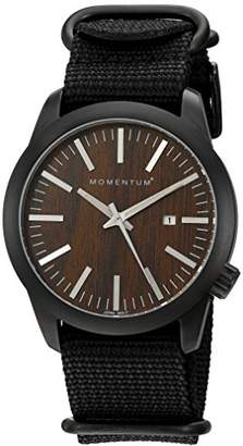 Momentum Men's Quartz Stainless Steel and Nylon Casual Watch