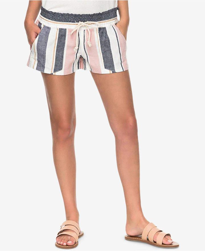 Roxy Juniors' Oceanside Striped Soft Shorts