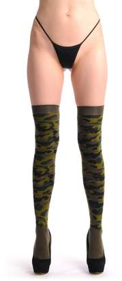 LissKiss Camouflage - Over The Knee Socks