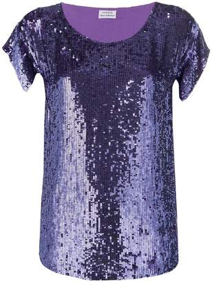 P.A.R.O.S.H. sequin embroidered blouse