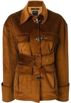 Rokh belted velvet cord jacket