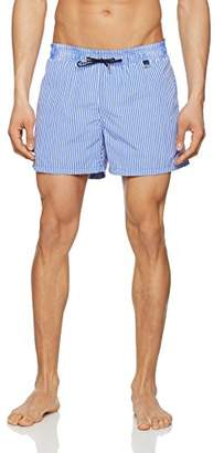 Hom Men's Regatta Beach Boxer Swim Shorts, (Blue)