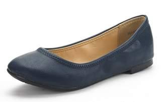 DREAM PAIRS SOLE-HAPPY Women's Flexible Stretch Topline Comfort Ballerina Flats Shoes SIZE 10