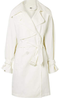 MM6 MAISON MARGIELA Oversized Cotton-canvas Trench Coat - White