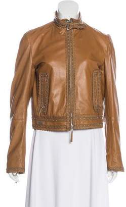 Gianfranco Ferre Embellished Leather Jacket