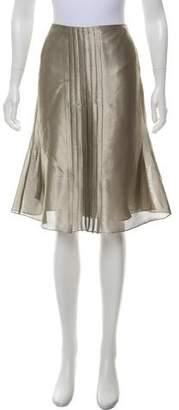 Ralph Lauren Metallic A-Line Skirt