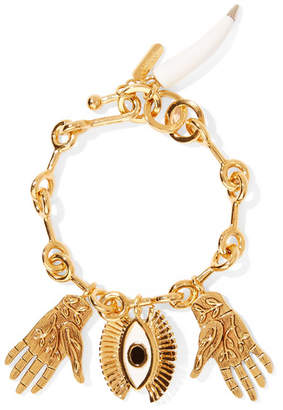 Chloé Sloan Gold-tone, Enamel And Resin Bracelet