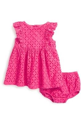 Infant Girl's Ralph Lauren Eyelet Dress $55 thestylecure.com