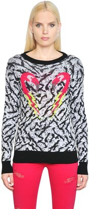 Flamingo Jacquard Cotton Knit Sweater $228 thestylecure.com
