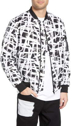 Wesc Abstract Print Bomber Jacket