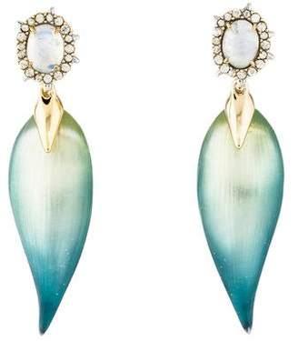 Alexis Bittar Moonstone, Crystal & Lucite Drop Earrings