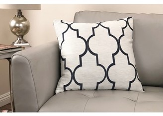 Armen Living Paxton Contemporary Decorative Feather and Down Throw Pillow In Cobalt Jacquard Fabric