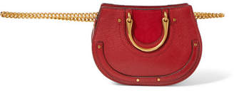 Chloé Pixie Mini Suede And Textured-leather Belt Bag