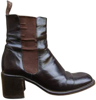 Free Lance Brown Patent leather Ankle boots