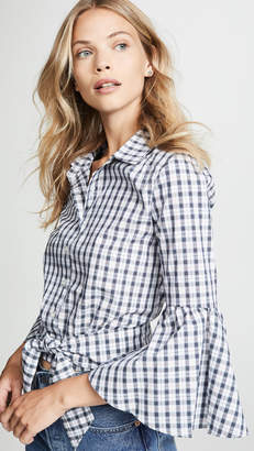 BB Dakota Jack by Lookout Mountain Plaid Bell Sleeve Top