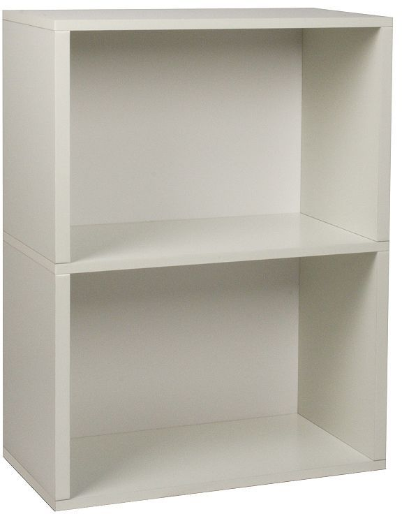 Way basics eco-friendly modular plus 2-shelf bookcase