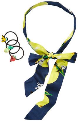 Berry Lemon Skinny Head Scarf & Hair Tie Set $14.97 thestylecure.com