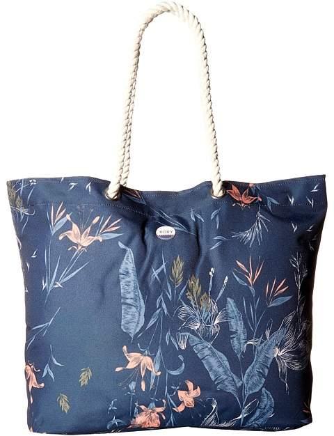 Roxy - Tropical Vibe Printed Beach Bag Tote Handbags