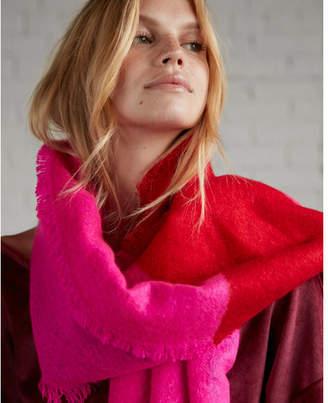 Express color block stripe blanket scarf