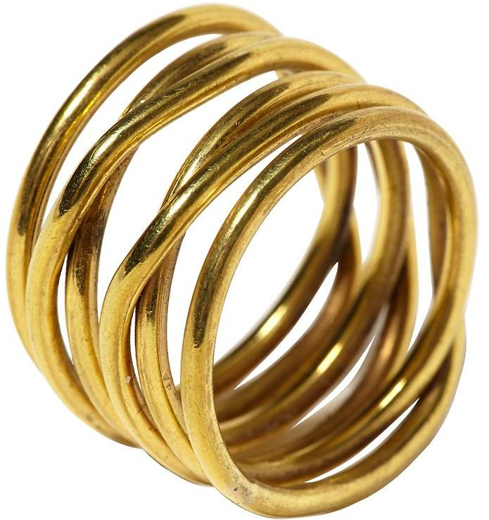 Kelly Wearstler Small Twisted Brass Ring