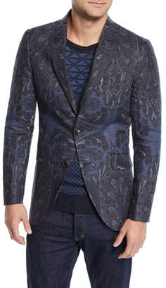 Etro Men's Paisley-Print Sport Coat Jacket