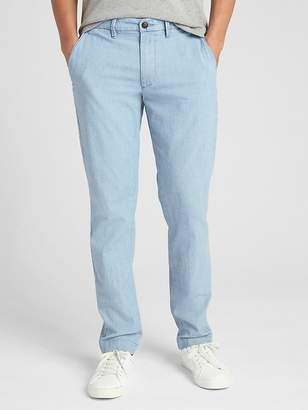 Gap Wearlight Chambray Pants in Slim Fit with GapFlex