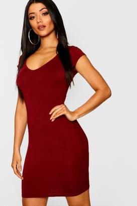 boohoo Sweetheart Neck Jersey Bodycon Dress