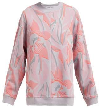 adidas by Stella McCartney Printed Crew Neck Sweatshirt - Womens - Pink Print