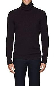 Fioroni Men's Mélange Cashmere Turtleneck Sweater - Navy