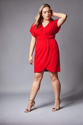 Next Womens Mela London Curve Wrap Front Midi Dress