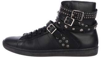 Saint Laurent Studded High-Top Sneakers