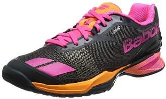 Babolat [バボラ] テニスシューズ オムニコート用 レディース ジェット BAS17684 GOP グレー×オレンジ×ピンク 25.0(25cm)