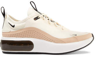 Nike Air Max Dia Leather-trimmed Mesh Sneakers - Cream