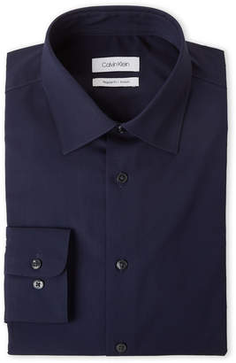 Calvin Klein Blue Frost Regular Fit Stretch Dress Shirt