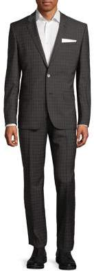 HUGO BOSS Henry Griffin Plaid Wool Suit