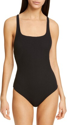 Ganni Textured One-Piece Swimsuit
