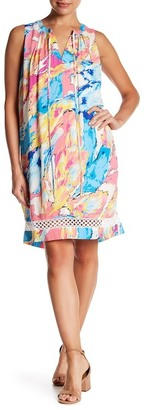 Charles Henry Sleeveless Printed Shift Dress $99 thestylecure.com