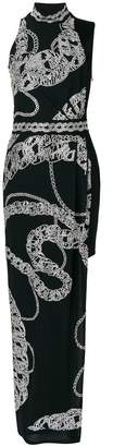 Just Cavalli long chain print dress