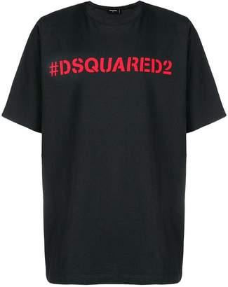 DSQUARED2 hashtag logo print T-shirt