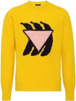 Prada banana shetland crew neck sweater
